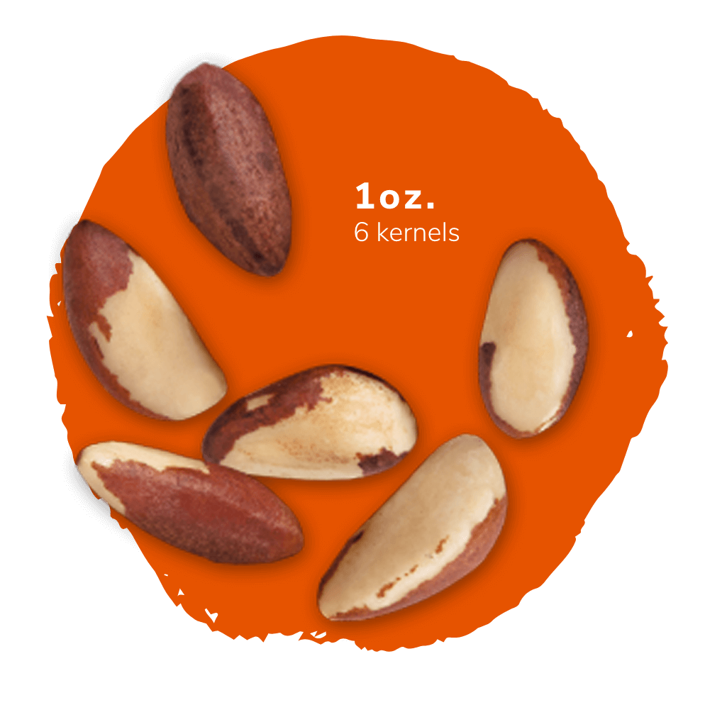 1oz of brazil nuts is 6 halves